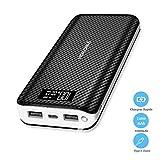 HOKONUI Batterie Externe 24000mAh 2.4A Charge Rapide 2.0,Power Bank 2 Ports USB...