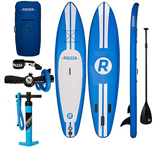 Tabla hinchable de paddle surf iRocker, 305x76x15cm Conjunto SUP(Azul)