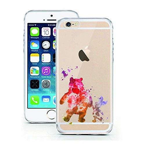 "licaso® iPhone 6 6S 4,7"" TPU Schneewittchen Hülle Disney Case transparent klare Schutzhülle Disney Hülle iphone6 Tasche Snow White Case (Schneewittchen) Bär Aquarell"