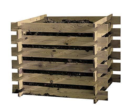 Compost Kit en bois 120x120x70cm
