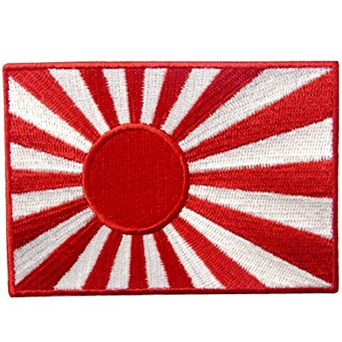 Kostüm Rising Sun - Japan Marine Flagge bestickt Rising Sun Emblem Japanische Kamikaze Eisen auf Sew auf Patch