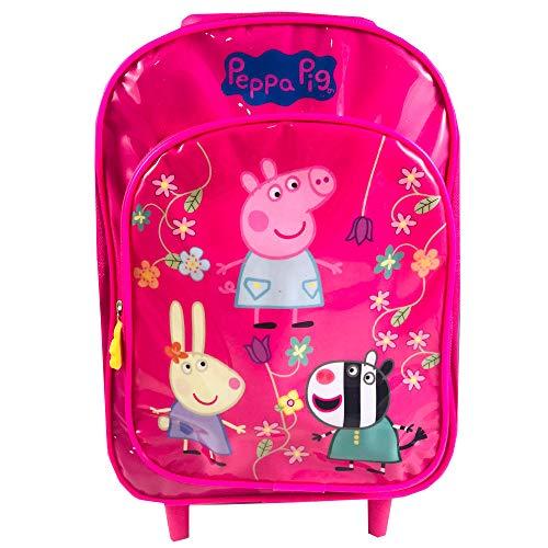 Mochila Trolley Infantil Escolar Peppa Pig 33x21cm (305934)