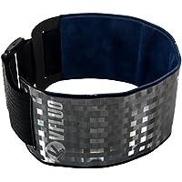 VFLUO ARMTECH&trade, Brazalete retro reflectante, Ajustable y elástico, Alta visibilidad de noche, Para Moto/Motocicleta/Bicicleta/Peatón, Negro