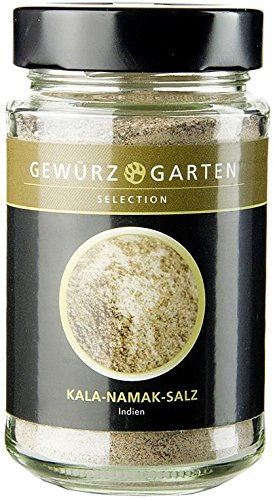 Gewürzgarten Selection Gewürzgarten Kala-Namak-Salz, fein, rotbraun, Indien, 250g (Schwefelwasserstoff-geruch)