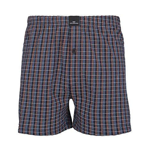 GÖTZBURG Herren Boxershort, Unterhose, Shorts - Boxers - Baumwolle, Single Jersey, blau, kariert, mit Eingriff 9 (Boxer Shorts Jersey)