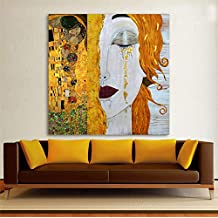 Pintura Al Óleo moderna Arte de la Lona Abstracto Gustav Klimt Lágrimas de Oro Cuadros de