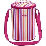 MIER 16 Latas termal bolsos del almuerzo del refrigerador aislado Bolsas enfriador de botellas para el trabajo, la comida campestre, Playa, Camping, Viajes, Viajes por carretera (rosa)