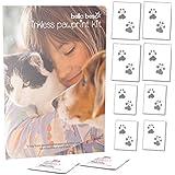 Bella Beso Inkless Pet Paw Print Set für Katzen und Hunde - Wird mit 2 Tüchern und 8 Bögen Spezialpapier geliefert