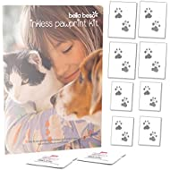 Bella Beso Inkless Pet Paw Print Set for Cats and Dogs - comes with 2 wipes and 8 sheets of special paper