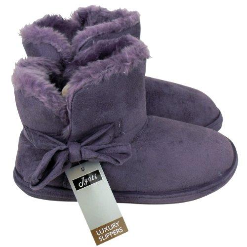 Jyoti , Chaussons pour femme Violet - violet