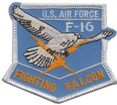 1000 Flaggen United States Air Force USAF General Fighting Falcon Shield bestickter Patch -