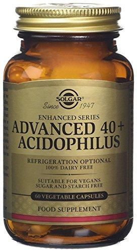 Las Cápsulas Vegetales Acidophilus Solgar Advanced 40 son una fuente de microorganismos L. acidophilus, L. rhamnosus GG, L. paracasei, B. lactis y S. thermophilus. Este producto está formulado con las conocidas cepas LA-5, LGG, L. casei 431, BB-12 y ...