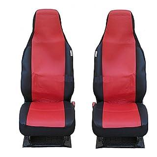 2x Sitzbezüge Schonbezüge Schonbezug Rot Kunstleder einteilig Neu Hochwertig