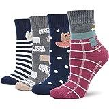 Calzini Caldi e Morbidi da Donna, Inverno Caldo Termici Donna Calze Colorful, EU 36-42, 4 paia