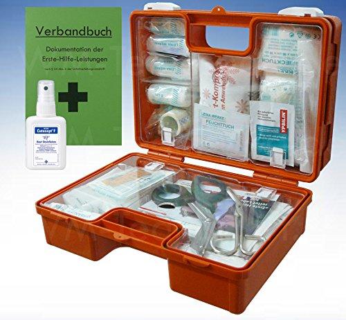 Ausrüstung Medizinische Neue (Erste-Hilfe-Koffer M1 für den Betrieb DIN 13157 EN 13157 incl. Verbandbuch & Hände-Antisept-Spray)