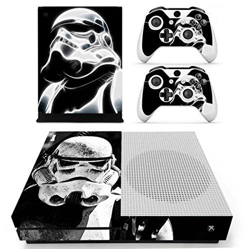 Preisvergleich Produktbild XBox One Slim + 2 Controller Aufkleber Schutzfolien Set - Star Wars / One S