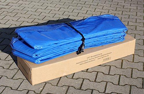 Premium Federabdeckung 396 – 400 cm 13 FT für Trampolin Randabdeckung Randschutz Abdeckung PVC zweiseitig – UV beständig blau - 2