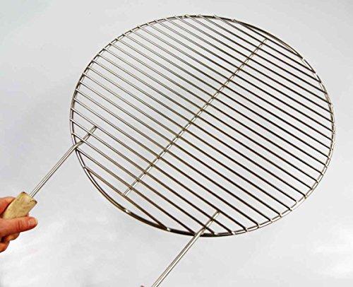 Diamètre : 64,5 cm-grille de barbecue en acier inoxydable pour barbecue 64 65, 66, 67, 68 weber convient,!! stabdurchmesser 4 mm, 2 poignées, grille de grill barbecue rond, rond