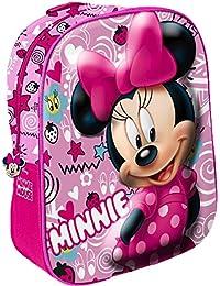 Star Licensing Disney Minnie Zaino 3D Zainetto per bambini, Multicolore