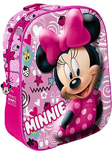 Star Licensing Disney Minnie Zaino 3D Zainetto per bambini, Multicolore