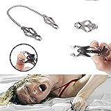 Reasoncool Sexspielzeug für Erwachsene,1 Paar Frauen Nippel Versorgung Brustklemme Schmetterling Clip Kette Vaginalen Erwachsene Spielzeug