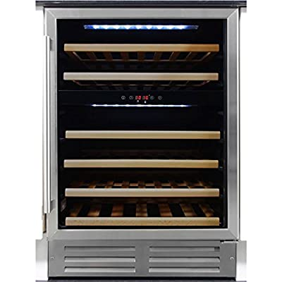 MyAppliances ART29603 60cm WIne Cooler Dual Zone Built-Under Stainless Steel by MyAppliances