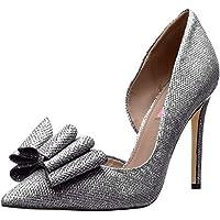 حذاء Princess d'Orsay نسائي من Betsey Johnson, (Pewter), 6.5
