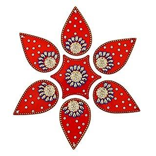 Amba Handwerk Rangoli/Home Decor/Diwali/Geschenk für Zuhause/Innenraum, handgefertigt, Bodenaufkleber/Wanddekoration/Bodendekoration/Neujahrsgeschenk/Party. Rangoli 11