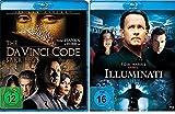 Dan Brown Set - Illuminati & The Da Vinci Code - Sakrileg [Blu-ray] im Set - Deutsche Originalware [2 Blu-rays] -