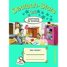Deutsch-Stars - Allgemeine Ausgabe: 3./4. Schuljahr - Lesetraining für Krimifans: Übungsheft. Mit Lösungen