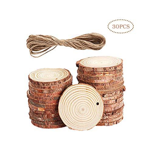 GLLC Natürliche Holzscheiben 7-8cm (2,75