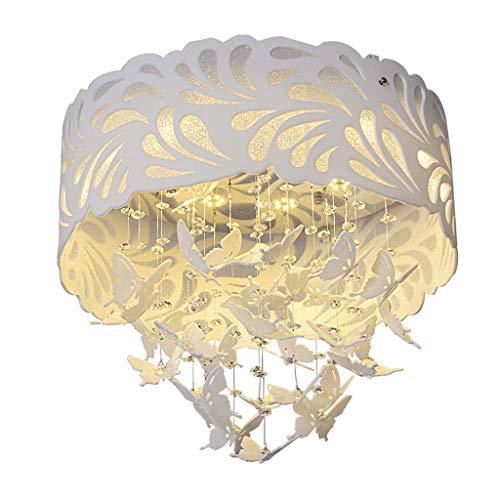 Spots de plafond Plafonnier Simple Moderne Lumière De Papillon LED Plafond Lampe Chambre Salon Salle À Manger Lampe Personnalité Creative Lampe (Color : Blanc, Size : 60 * 60 * 49cm)