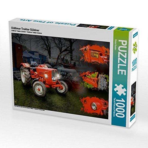 """Oldtimer Traktor Güldner 1000 Teile Puzzle quer: Ein Motiv aus dem Kalender \""""Oldtimer - Traktoren\"""" von Peter Roder (CALVENDO Technologie)"""