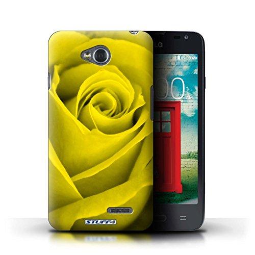 Kobalt® Imprimé Etui / Coque pour LG L65/D280 / Rouge conception / Série Rose Jaune