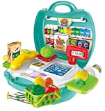 Smartcraft Cash Register, organic product with cash register role play toy set,pretend play set for kids, kids supermarket play set