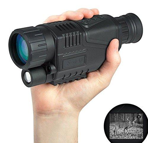 "WorldShopping4U 1,44\""LCD Optics 5x40 Digital Infrarot IR Nachtsichtgerät Monokular Zoom Video Foto für Tactical Airsoft Schießen Jagd"
