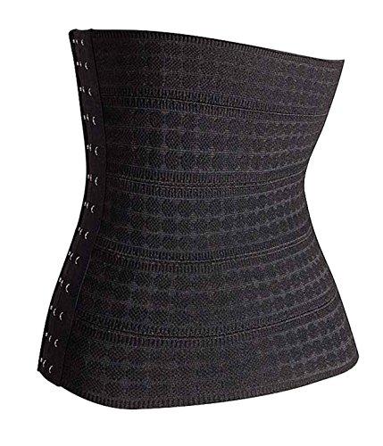 Bingrong Frauen-Bauch-Abnehmen Shapewear Thermo GUrtel Taille Training Cincher Schwarz