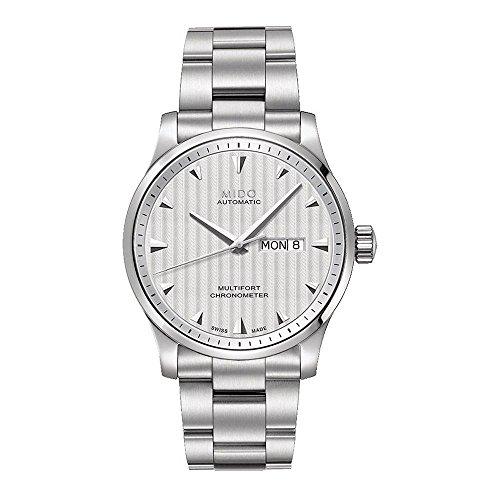 Mido Herren Analog Automatik Uhr mit Edelstahl Armband M0054311103100