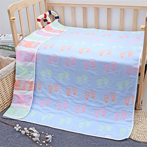 WANMT Babydecken Babywolldecke Baumwollbabydecke sechslagige Kinderdecke, 80 * 80cm