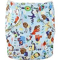 WANGPP Pañales Reutilizables Pantalones, Pantalones de pañales de incontinencia Capa Lavable de pañales for el bebé [Un tamaño] 7.23 (Color : B)