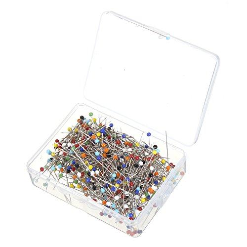 Glas Pearlized Kopf Pins Multicolor Sewing Pin für DIY Nähen Handwerk Nähzubehör Hardware-Ersatzteile ()