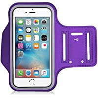 King of Flash Purple High Quality Water Resistant [iPod Touch 4th, 5th,6th Generation] Neoprene Work Out Armband Perfect for Running, Jogging, Cycling, Gym, Yoga, Fitness and Much More!