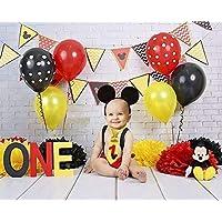 Traje Smash Cake primer cumpleaños 1 año niño (orejas + tirantes + corbata + cubrepañal)