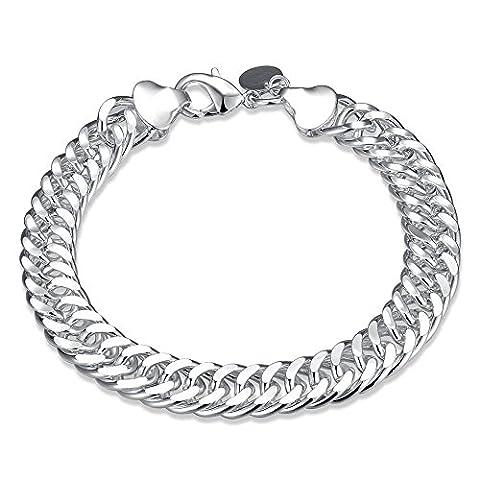 BODYA 10MM Italian Wheat cable Chain Link Bracelet for Men