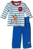 """Julius Hüpeden Baby - Jungen Bekleidungsset """"Super Cool"""" mit Velours Oberteil und Hose, Gr. 74, Mehrfarbig (victoria blue/baby blue 730512) thumbnail"""
