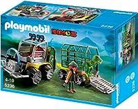 PLAYMOBIL 5236 - Forscherfahrzeug mit Käfiganhänger