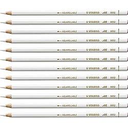 Lápiz de grafito multisuperficie STABILO All - Caja con 12 unidades - Color blanco
