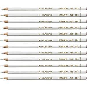 Marker Pencil - STABILO All Box of 12 white