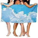 Dutars Lustiges Badetuch, Wohnung, Kristall, Wolken im Himmel, Hoffnung, Symbol Oberfläche des Planetenkörpers, weich, saugfähig, Strandtuch, Pool-Handtuch, 30 x 50 cm
