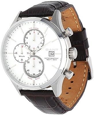 GANT W70402 - Reloj analógico de cuarzo para hombre con correa de piel, color marrón